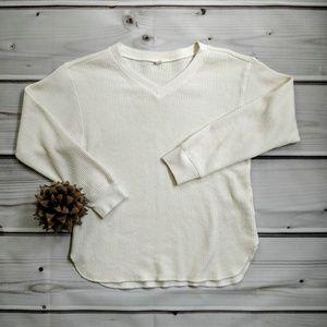Uniqlo Long Sleeve Waffle Knit Shirt
